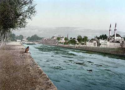 Damascus Painting - Damascus Barada River by Granger