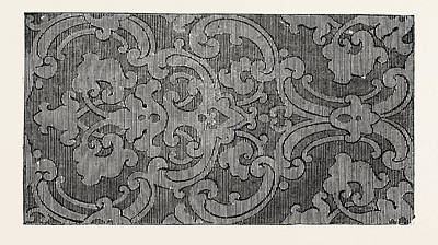 Damask Drawing - Damask, 1851 Engraving by Hoadley And Pridie, English School