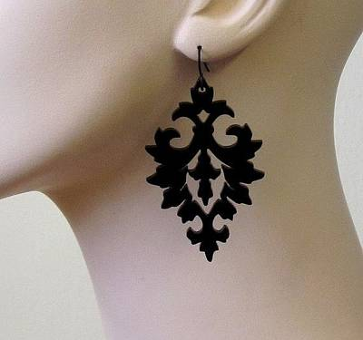 Laser Cut Gifts Jewelry - Damask Earrings by Rony Bank