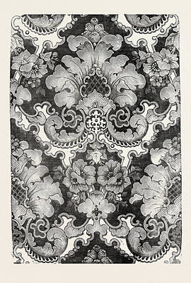 Damask Drawing - Damask by English School