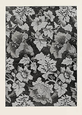 Damask Drawing - Damask Pattern, Oadley And Co by English School