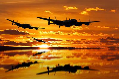 Photograph - Dambusters Avro Lancaster Bombers by Ken Brannen