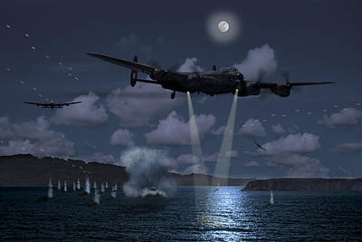 Photograph - Dambusters Martins Attack by Ken Brannen