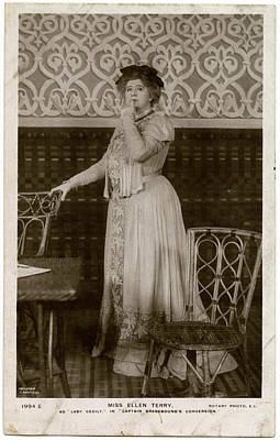 Dame Ellen Alice Terry (1847  1928) Art Print by Mary Evans Picture Library