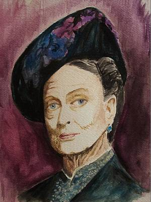 Dame Maggie Smith Art Print by Amber Stanford