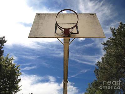Damged Basketball Hoop Art Print