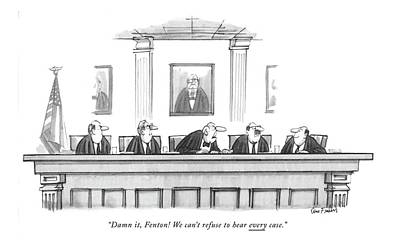 Panel Drawing - Damn It, Fenton! We Can't Refuse To Hear Every by Dana Fradon