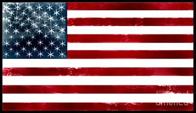 I Love America Digital Art - Damn Straight. I Love My Country. Usa by Cathy Peterson