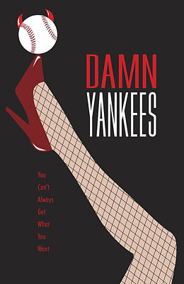 New Stage Digital Art - Damn Yankees 3 by Ron Regalado