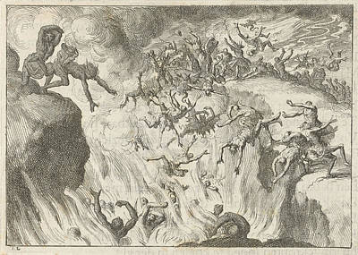 Damned Are Thrown Into The Eternal Fire, Jan Luyken Art Print by Jan Luyken And David Ruarus