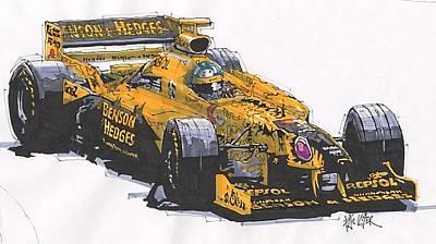 Damon Hill Jordan Grand Prix Of Canada Art Print by Paul Guyer
