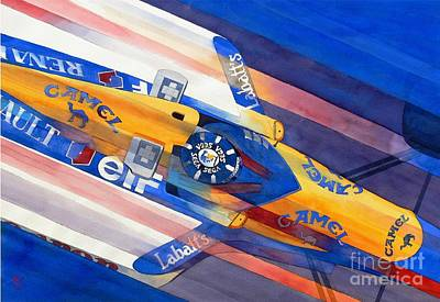 Automobilia Painting - Damon Hill by Robert Hooper