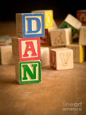 Dan - Alphabet Blocks Art Print by Edward Fielding