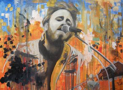 Painting - Dan Auerbach by Matt Burke
