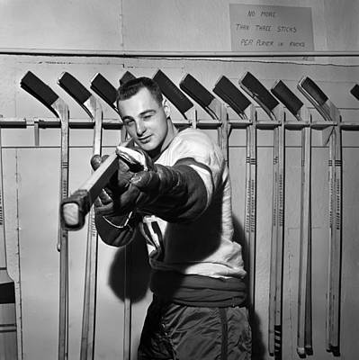 Minor Hockey Photograph - Dan Belisle Of The Vancouver Canucks 1960 by Mountain Dreams