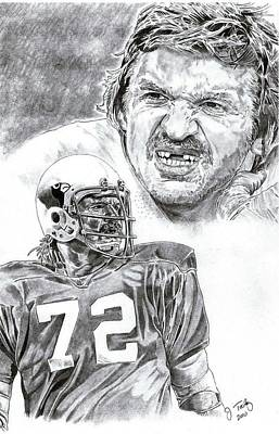 St. Louis Cardinals Drawing - Dan Dierdorf by Jonathan Tooley