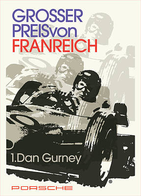 Painting - Dan Gurney Racing by Gary Grayson