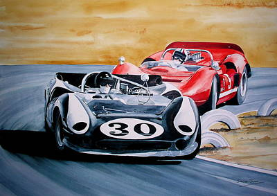Painting - Dan Gurney   by Steve Jones