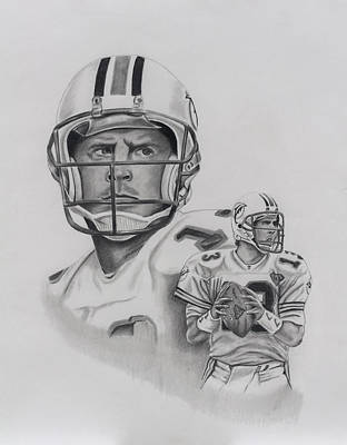 Dan Marino Art Print by Billy Burdette