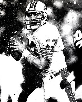 Dan Marino Art Print by Brian Reaves