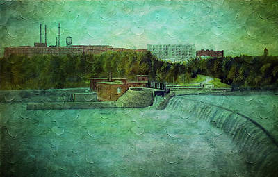 Photograph - Dan River Mills Hydro Electric Plant by Lisa and Norman  Hall