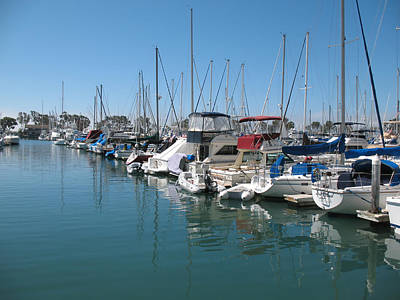 Dana Point Harbor Art Print by Connie Fox