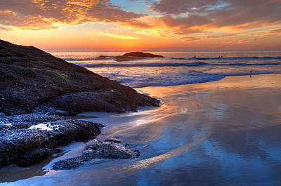 Photograph - Dana Point Sunset Reflections by Cliff Wassmann