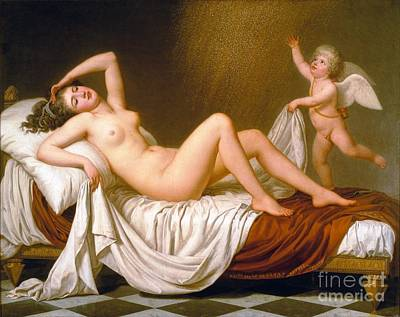 Painting - Danae And The Shower Of Gold by Roberto Prusso