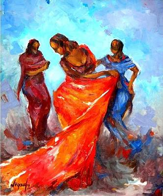 Painting - Dance 3 by Negoud Dahab