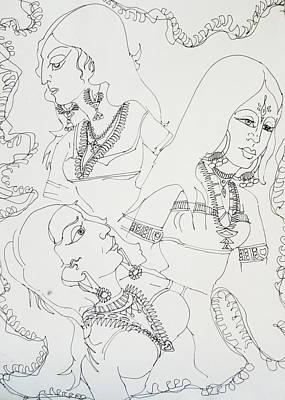 Australia Drawing - Dance-31 by Bhanu Dudhat