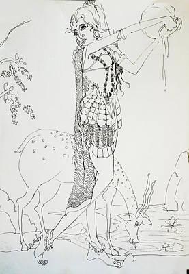 Australia Drawing - Dance-32 by Bhanu Dudhat