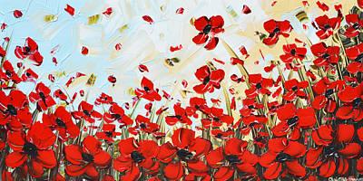 Dance Among Red Poppies Art Print by Christine Krainock