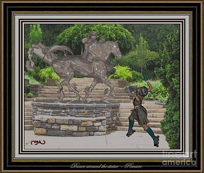 Statue Portrait Digital Art - Dance Around The Statue Dats2 by Pemaro