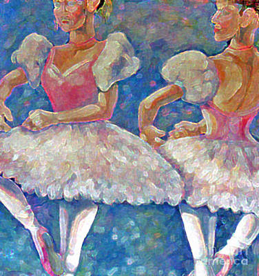 Art Print featuring the painting Dance Ballerina by Rita Brown