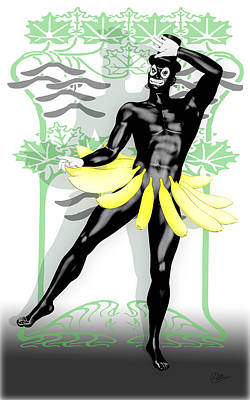 Cabaret Digital Art - Banana Boy by Quim Abella