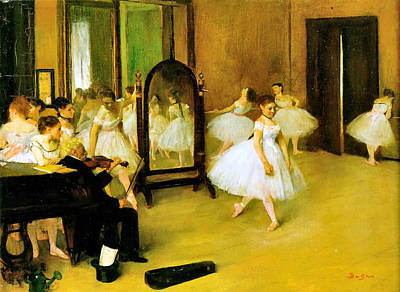 Degas Digital Art - Dance Class 2 by Edgar Degas