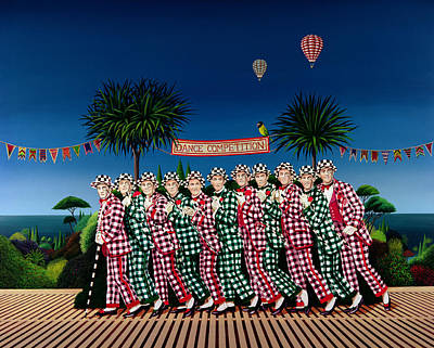 Hot Air Balloon Painting - Dance Competition by Anthony Southcombe