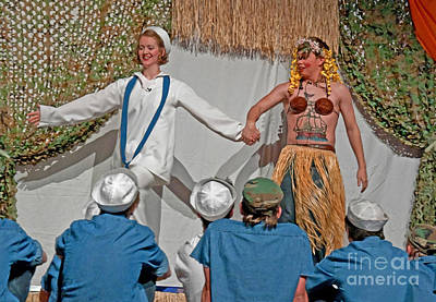 Photograph - Dance During The Musical South Pacific Scene by Valerie Garner