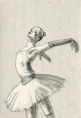 Opera Gloves Drawing - Dance by H James Hoff