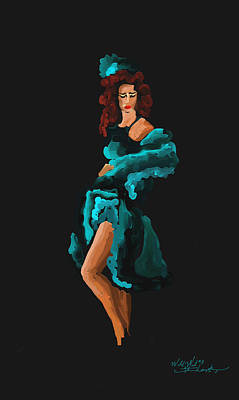 Tennessee Painting - Dance Hall Gal by Steven Lebron Langston