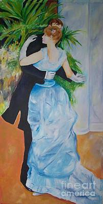 Ballroom Drawing - Dance In The City  by Eric  Schiabor