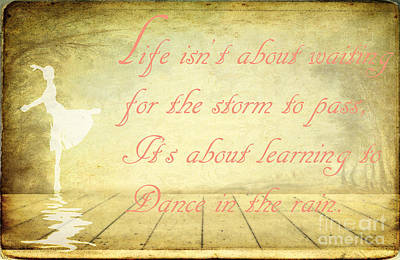 Kids Alphabet Royalty Free Images - Dance in the rain Royalty-Free Image by Ken Marsh