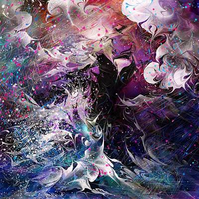 Lightning Digital Art - Dance In The Seas by Rachel Christine Nowicki