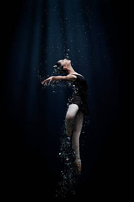 Woman Photograph - Dance In The Water by Semra Halipoglu