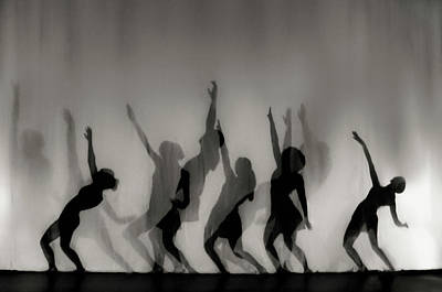Shadow Dancing Photograph - Dance Is The Language Of The Soul ... by Yvette Depaepe
