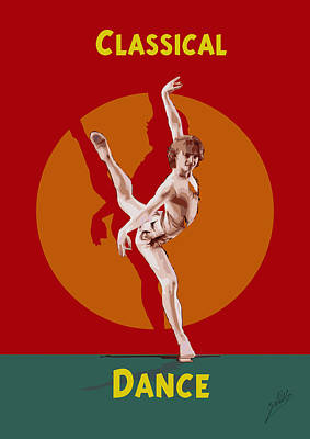 Dance Art Print by Quim Abella