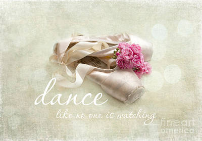 Dance Ballet Roses Photograph - Dance Like No One Is Watching by Sylvia Cook