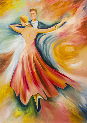 Ballroom Dancing Painting - Dance Me To The End Of Time by Music of the Heart