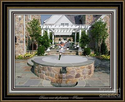 Statue Portrait Digital Art - Dance Near The Fountain Dntf2 by Pemaro