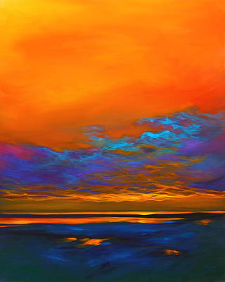 Abstract Seascape Painting - Dance Of Angels by Savlen Art